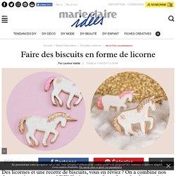 Faire des biscuits en forme de licorne