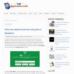 Faire une capture ecran d'un site grace à Docapture