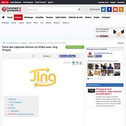 Faire des captures d'écran ou Vidéo avec Jing Project