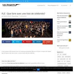 FLE : Que faire avec une liste de célébrités?