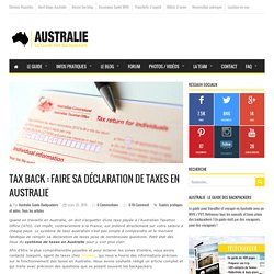 Tax back : Faire sa déclaration de taxes en Australie