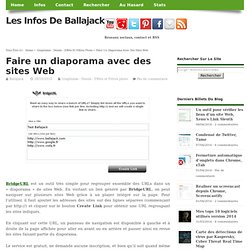 Faire un diaporama avec des sites Web