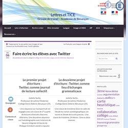 Faire écrire les élèves avec Twitter » Lettres et TICE