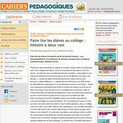 Faire lire les élèves au collège : histoire à deux voix