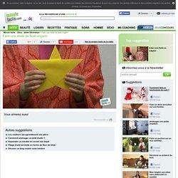 Faire une étoile de Noël origami
