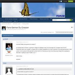Faire Germer Du Cresson