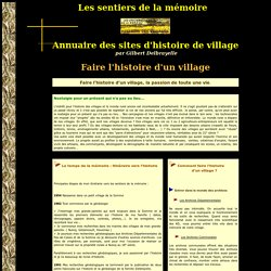 Faire l'histoire d'un village
