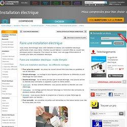 Faire une installation électrique: bien faire son installation