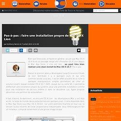 Pas-à-pas : faire une installation propre de Mac OS X Lion