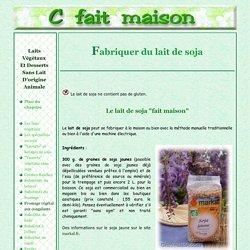 """Faire du lait de soja (soya) """"maison"""" avec ou sans machine"""