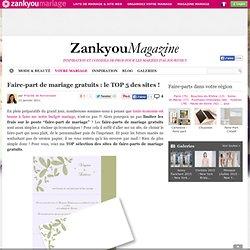 Faire-part de mariage gratuits : le TOP 5 des sites !