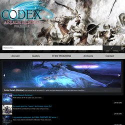 Que faire au niveau 50 ? » Final Fantasy XIV CODEX