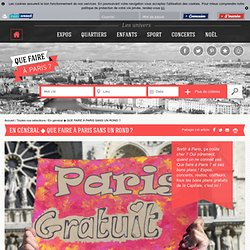 Que faire à Paris En général ◆ QUE FAIRE À PARIS SANS UN ROND ?