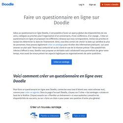 Faire un questionnaire en ligne via Doodle