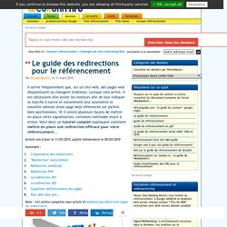 Tutoriel complet sur les redirections (301, 302, JavaScript, …)