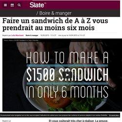 Faire un sandwich de A à Z vous prendrait au moins six mois
