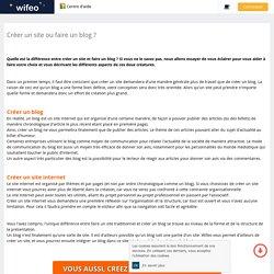Faire un site ou faire un blog ? Quelles différences
