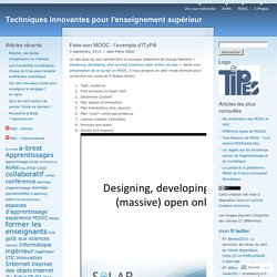 Faire son MOOC: l'exemple d'ITyPA
