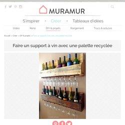 Faire un support à vin avec une palette de bois recyclée