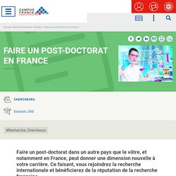 Faire un post-doctorat en France