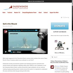 Salt in the Wound — Fairewinds Energy Education