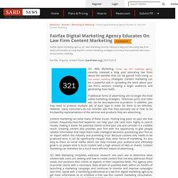 Fairfax Digital Marketing Agency Educates On Law Firm Content Marketing