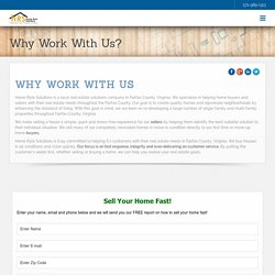Why Work With Fairfax Virginia Fast Cash Home Buyer - Home Ryte Solutions