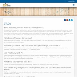 Fairfax Virginia Fast Cash Home Buying FAQ - Home Ryte Solutions