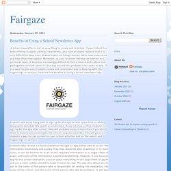 Fairgaze: Benefits of Using a School Newsletter App