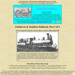 Fairhaven & Southern Railway and the two Sedros, part 1