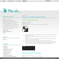 """Fais pas ci, fais pas ça"" Jacques Dutronc - fle-etc.over-blog.com"