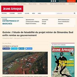 Guinée : l'étude de faisabilité du projet minier de Simandou Sud enfin remise au gouvernement