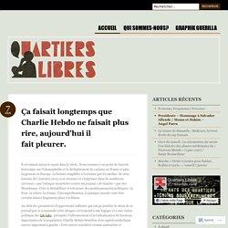 Ça faisait longtemps que Charlie Hebdo ne faisait plus rire, aujourd'hui il fait pleurer.