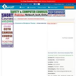 ecommerce wordpress themes, Askoley, Faisalabad, Rawalpindi - FreePost-129058