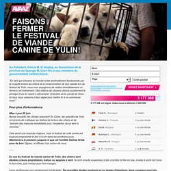 Sauvons les chiens de Yulin du massacre