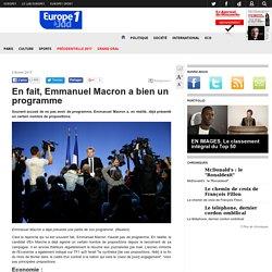 En fait, Emmanuel Macron a bien un programme