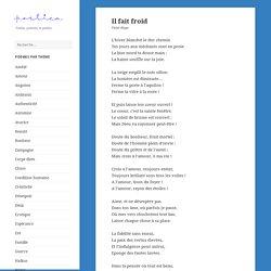 Il fait froid, poème de Victor Hugo