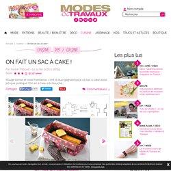 On fait un sac à cake ! - Modesettravaux.fr