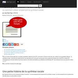 Faites parler votre PC en français !