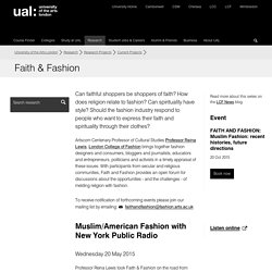 Faith & Fashion - Current Projects