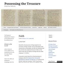 Faith « Possessing the Treasure