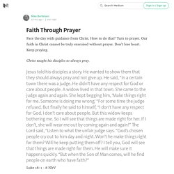 Faith Through Prayer