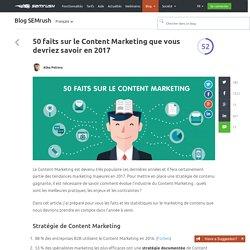 50 faits sur le Content Marketing à savoir en 2017