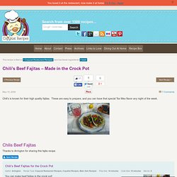 Chili's Beef Fajitas | CopyKat Recipes | Copycat Recipes | Restaurant Recipes