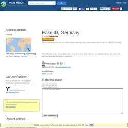 Purchase Online Fake ID in Hamburg