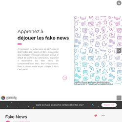 Fake News by isabelle.basson on Genial.ly