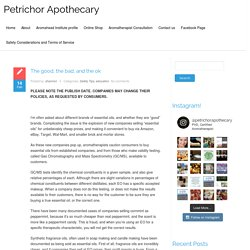 fake oils – Petrichor Apothecary