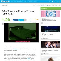 Fake Porn Site Directs You to IKEA Beds