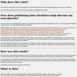 Fake US Identities FAQ