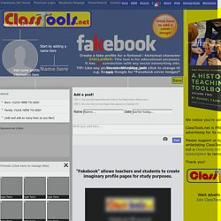 'Fakebook'! Create a Fake Facebook Profile using this generator